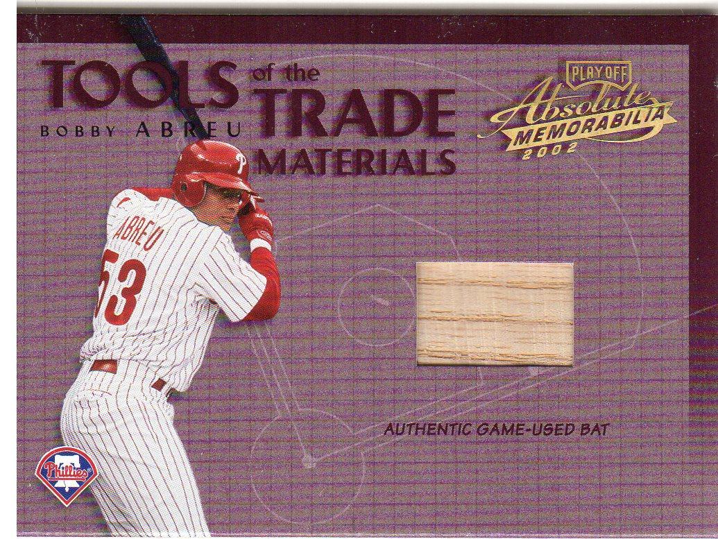 2002 Absolute Memorabilia Tools of the Trade Materials #TT38 Bobby Abreu Bat