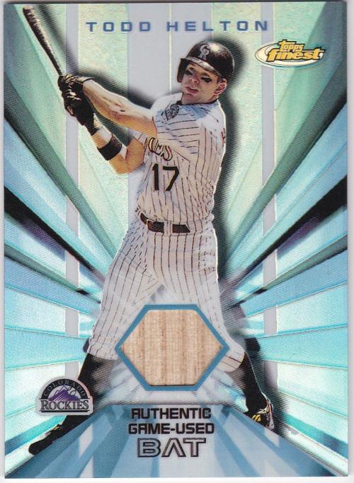 2002 Finest Bat Relics #FBRTH Todd Helton