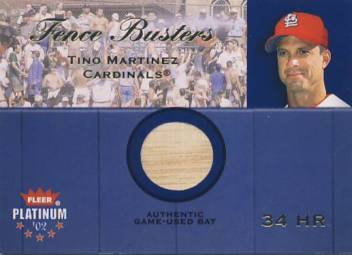 2002 Fleer Platinum Fence Busters #14 Tino Martinez/800
