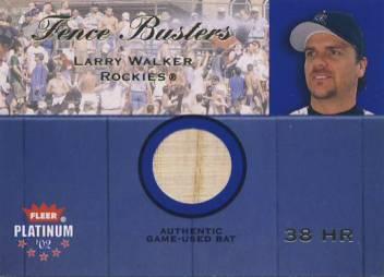 2002 Fleer Platinum Fence Busters #22 Larry Walker/750