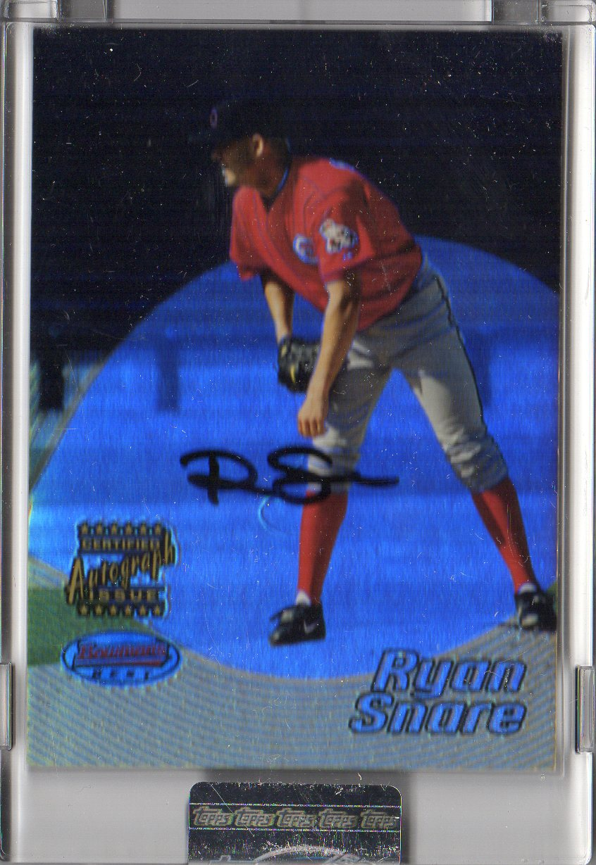 2002 Bowman's Best Uncirculated #138 Ryan Snare AU