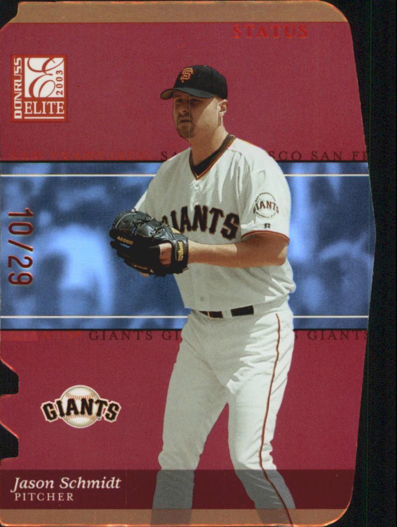 2003 Donruss Elite Status #154 Jason Schmidt/29