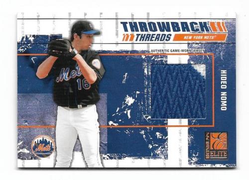 2003 Donruss Elite Throwback Threads Prime #36 Hideo Nomo Mets