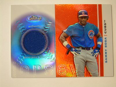 2003 Finest Uniform Relics #SS Sammy Sosa D