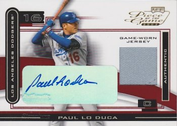 2003 Playoff Piece of the Game Autographs #73 Paul Lo Duca Jsy
