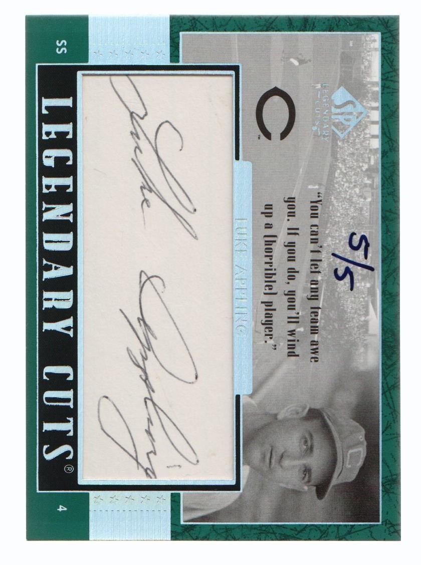 2003 SP Legendary Cuts Autographs Green #LU Luke Appling/5