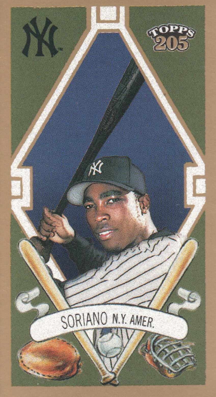 2003 Topps 205 Sovereign #20A Alfonso Soriano w/Bat