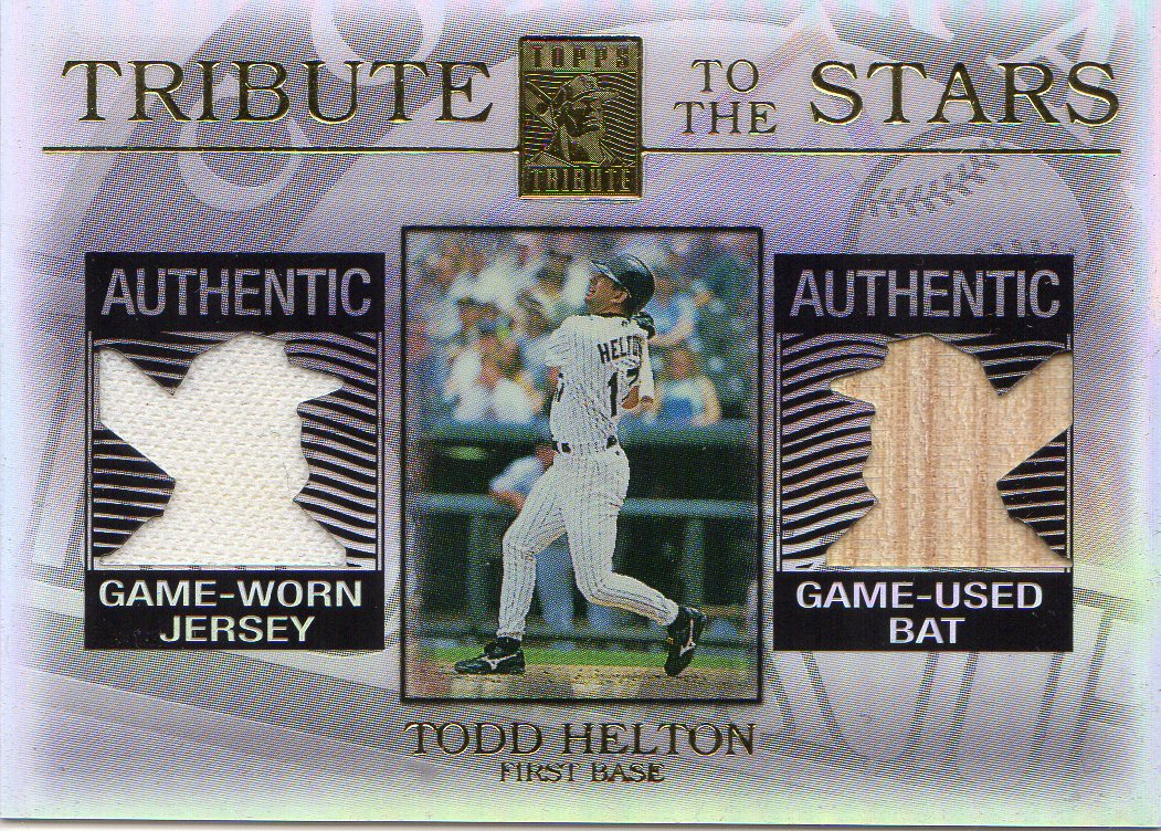 2003 Topps Tribute Contemporary Tribute to the Stars Dual Relics #TH Todd Helton Bat-Jsy