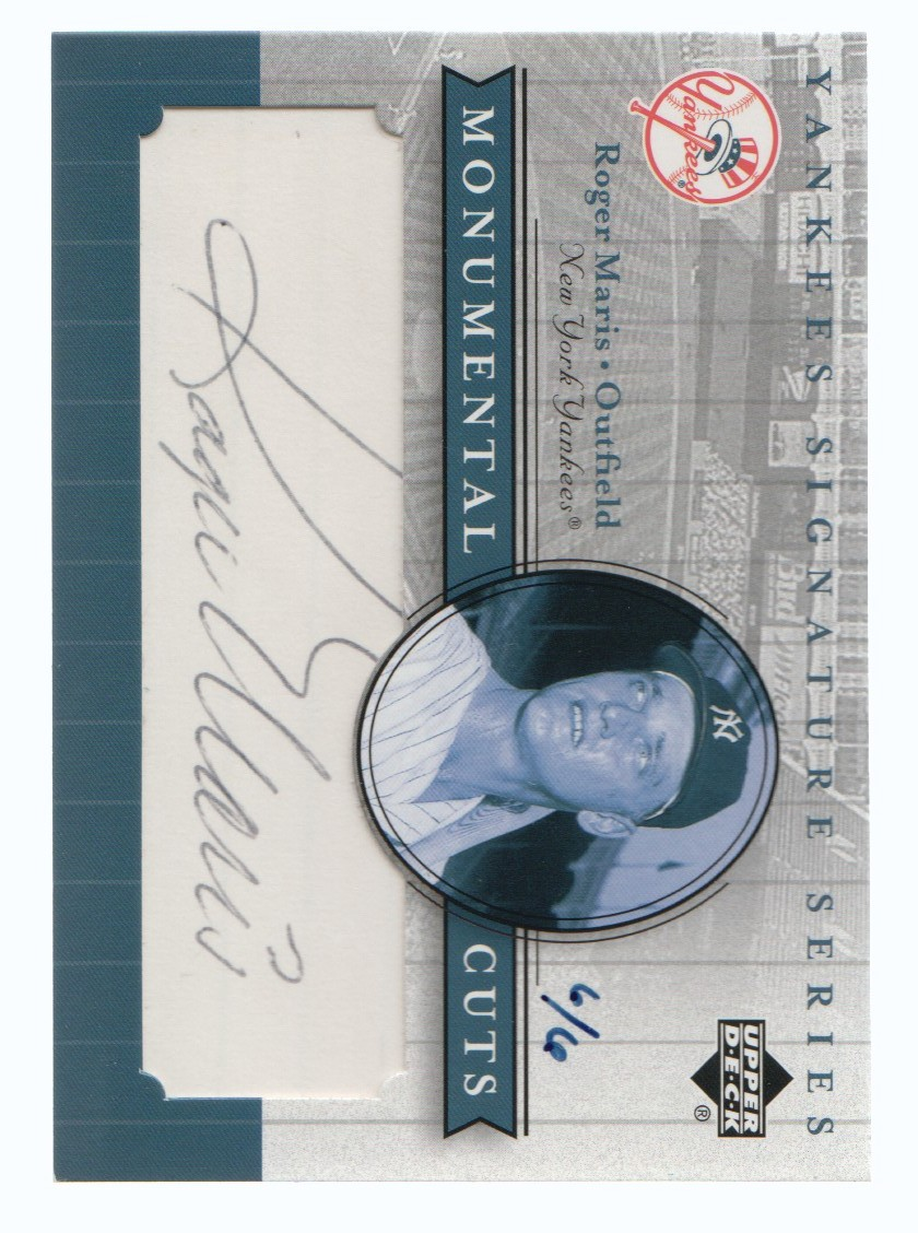 2003 Upper Deck Yankees Signature Monumental Cuts #RM Roger Maris/6