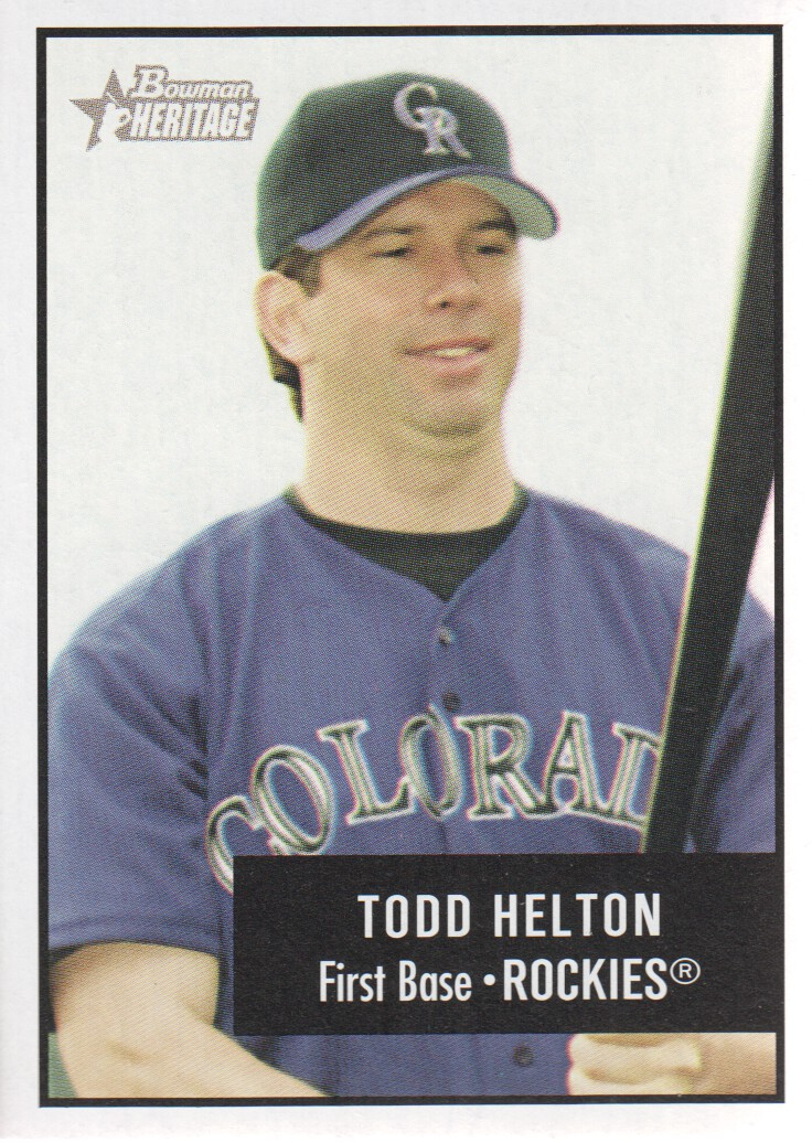 2003 Bowman Heritage #2 Todd Helton