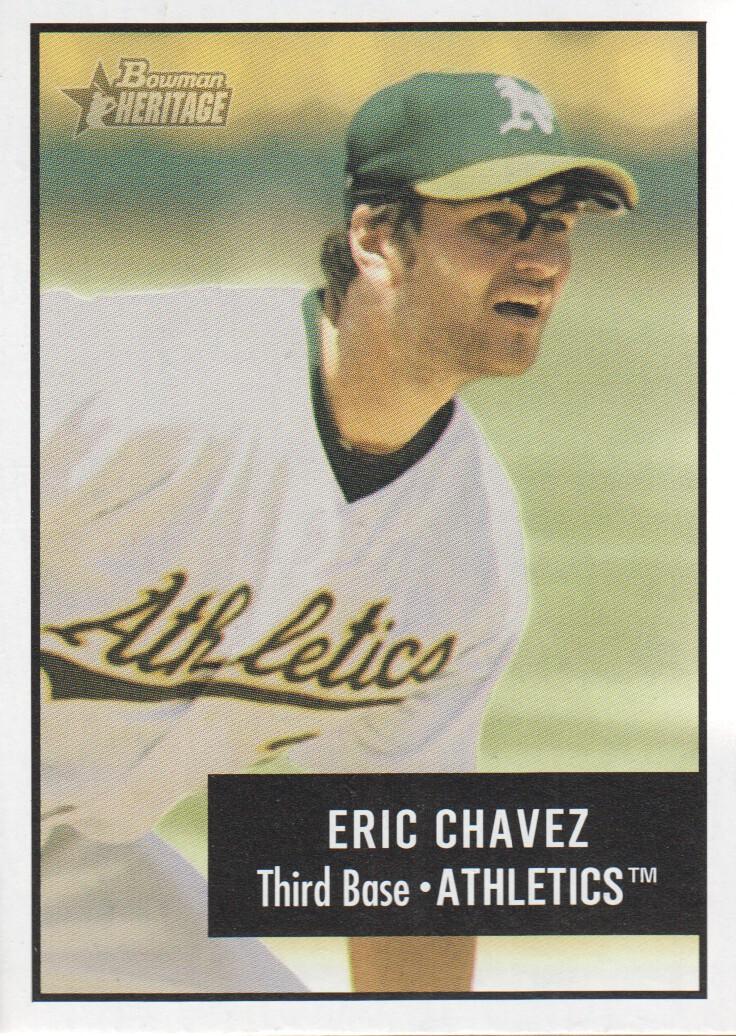 2003 Bowman Heritage #4 Eric Chavez