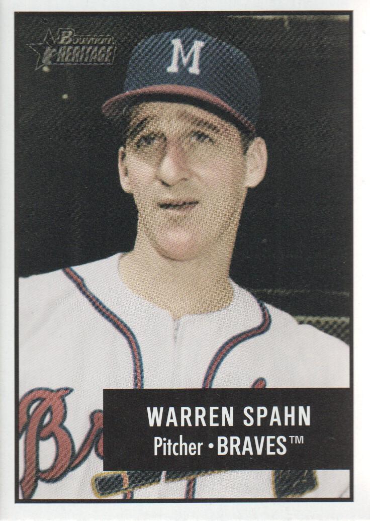 2003 Bowman Heritage #174A Warren Spahn