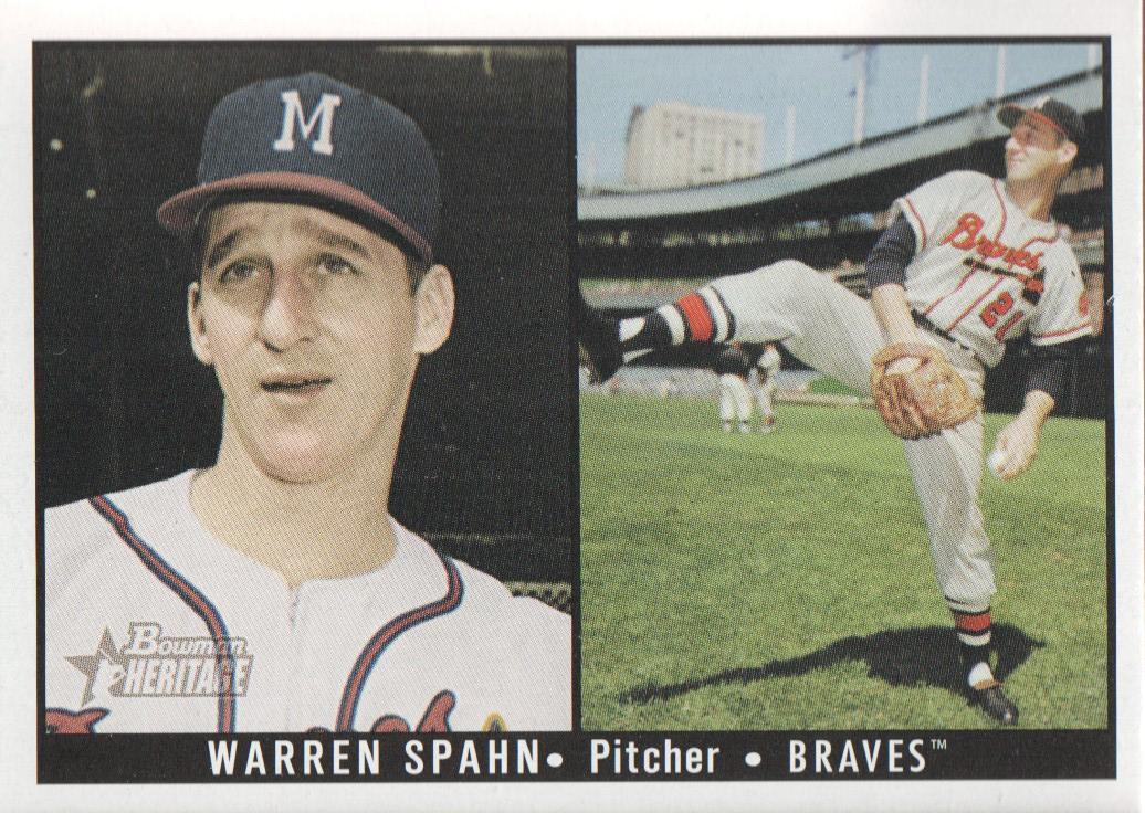 2003 Bowman Heritage #174B Warren Spahn DI