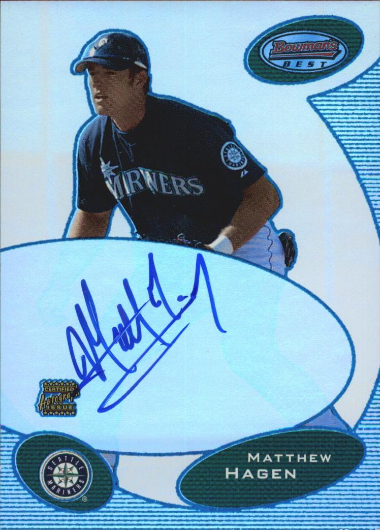 2003 Bowman's Best Blue #MNH Matt Hagen FY AU