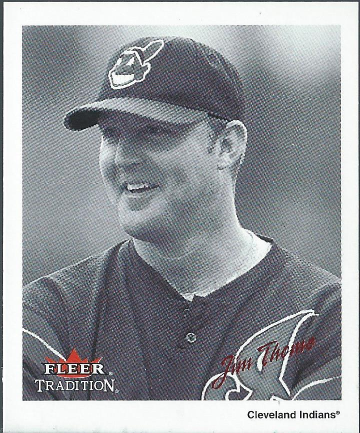 2003 Fleer Tradition Black-White Goudey Red #1 Jim Thome