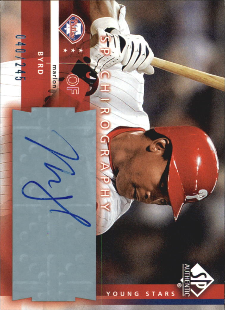 2003 SP Authentic Chirography Young Stars #MB Marlon Byrd/245
