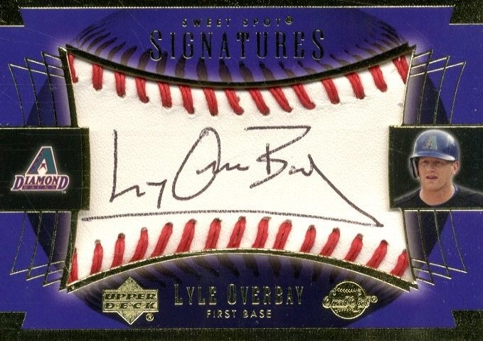 2003 Sweet Spot Signatures Black Ink #LOAU Lyle Overbay