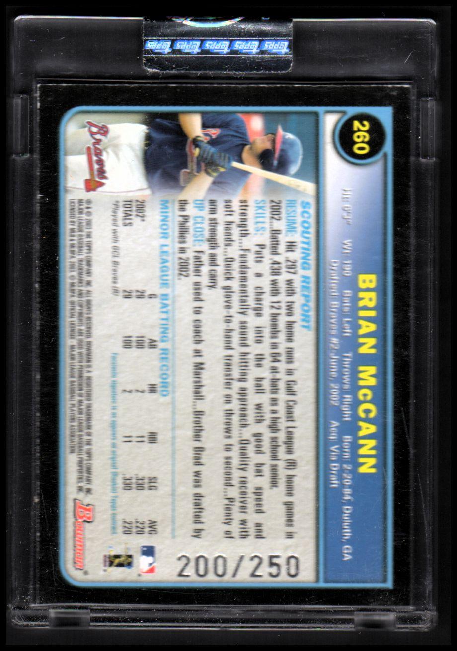 2003 Bowman Uncirculated Silver #260 Brian McCann back image