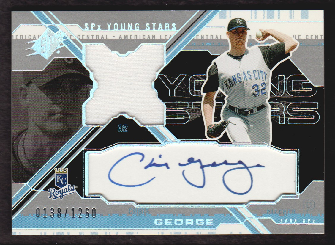 2003 SPx Young Stars Autograph Jersey #CG Chris George/1260