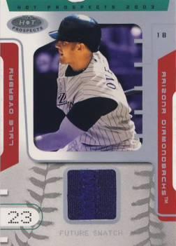 2003 Hot Prospects #90 Lyle Overbay FS Jsy