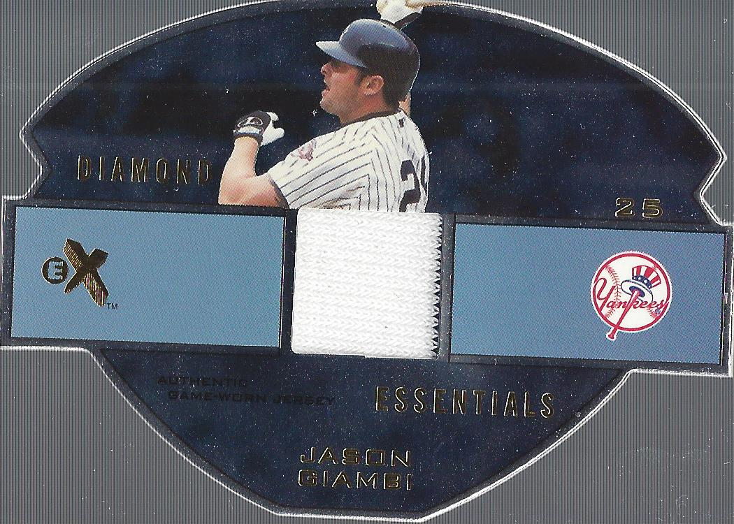 2003 E-X Diamond Essentials Game Jersey 245 #JG Jason Giambi