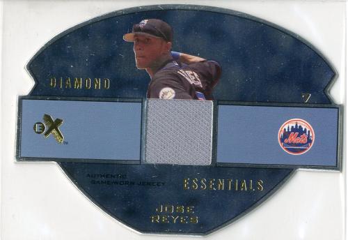 2003 E-X Diamond Essentials Game Jersey 245 #JR Jose Reyes