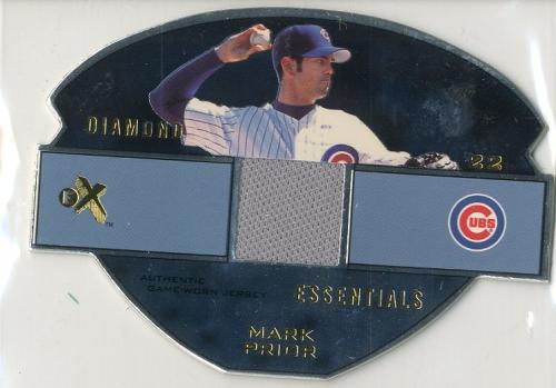 2003 E-X Diamond Essentials Game Jersey 245 #MP Mark Prior