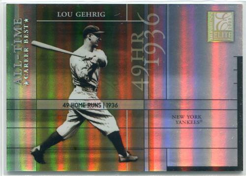 2003 Donruss Elite All-Time Career Best Parallel #4 Lou Gehrig/49