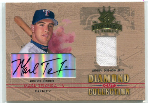 2004 Diamond Kings Diamond Cut Combos Signature #DC8 Mark Teixeira Jsy/10