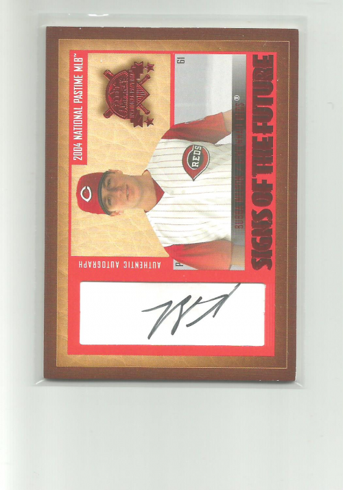 2004 National Pastime Signs of the Future Red #BN Bubba Nelson/99