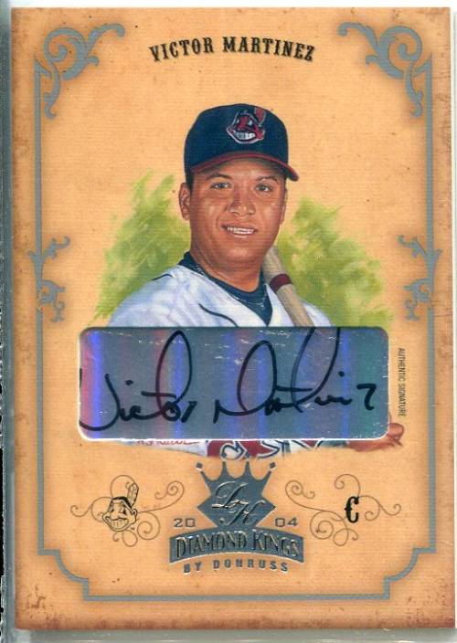 2004 Diamond Kings DK Signatures Silver #6 Victor Martinez/49