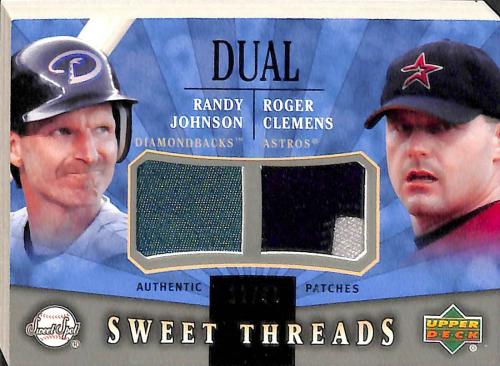 2004 Sweet Spot Sweet Threads Dual Patch #STDJC Randy Johnson/Roger Clemens