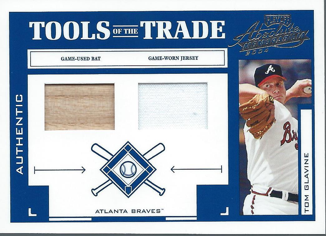 2004 Absolute Memorabilia Tools of the Trade Material Combo #TT141 T.Glav Braves Bat-Jsy/250