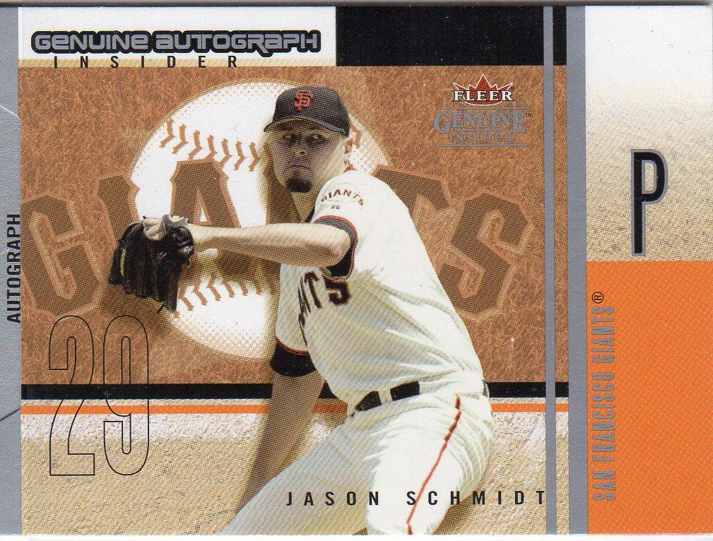 2004 Fleer Genuine Insider Autograph #JS Jason Schmidt/300