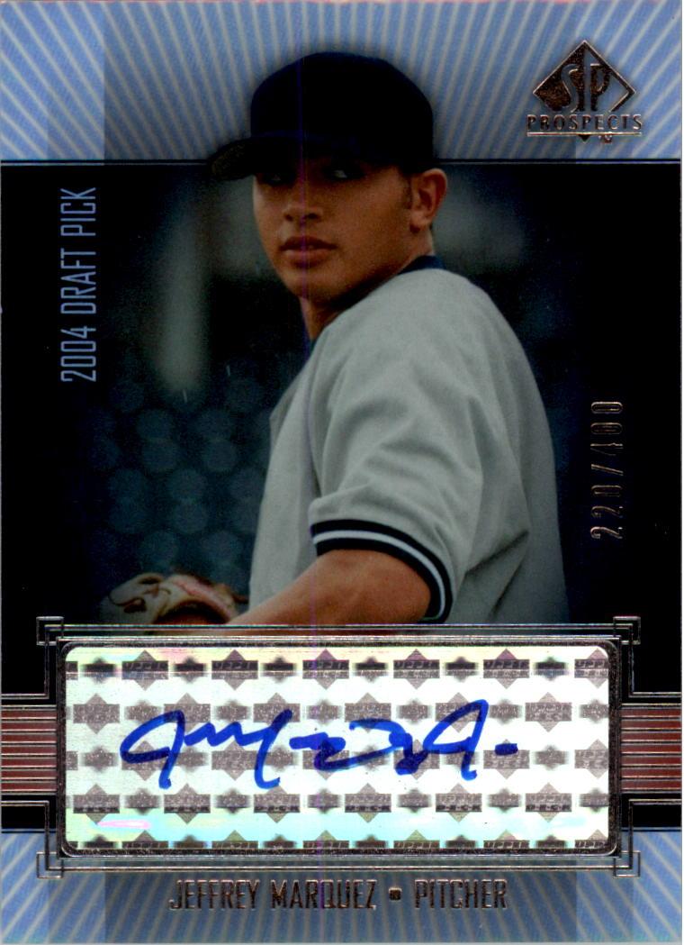 2004 SP Prospects #320 Jeff Marquez AU/400 RC