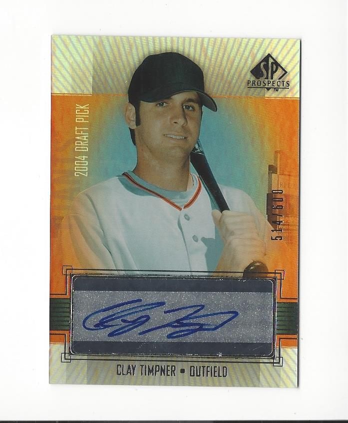 2004 SP Prospects #399 Clay Timpner AU/600 RC