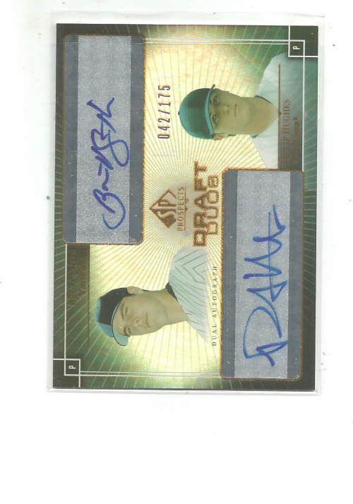 2004 SP Prospects Draft Duos Dual Autographs #SH Brett Smith/Phillip Hughes