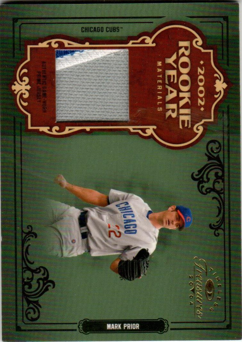 2004 Timeless Treasures Rookie Year Materials Prime #37 Mark Prior Grey Jsy/10