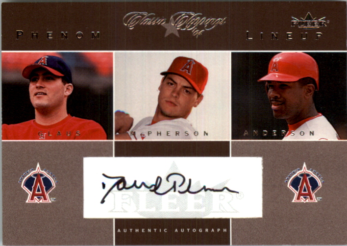 2004 Classic Clippings Phenom Lineup Autograph Silver #DM D.McPher w/Glaus-And