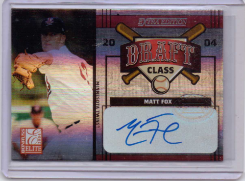 2004 Donruss Elite Extra Edition Draft Class Signature #32 Kyle Bono/Matt Fox/100