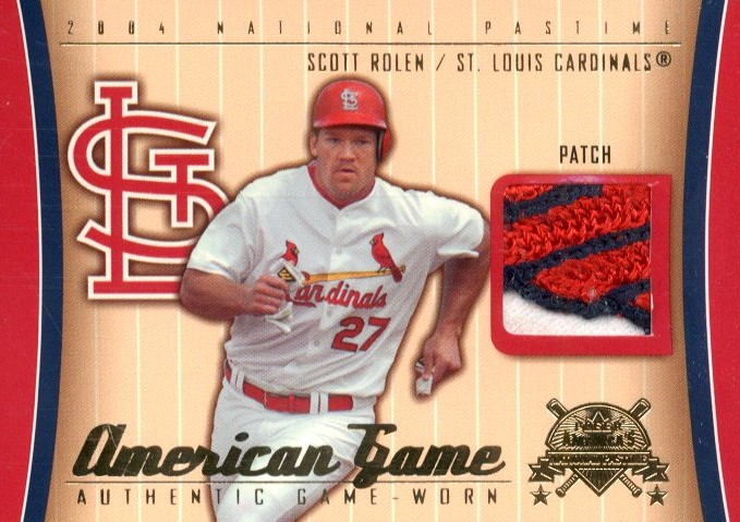 2004 National Pastime American Game Patch #SR Scott Rolen/49
