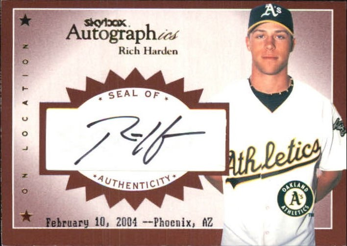 2004 SkyBox Autographics Signatures On Location #RH1 Rich Harden
