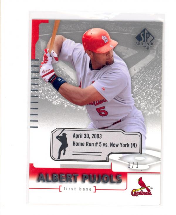 2004 SP Authentic Game-Dated #58 Albert Pujols
