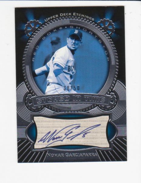 2004 Upper Deck Etchings Etched in Time Autograph Blue #NG Nomar Garciaparra/50