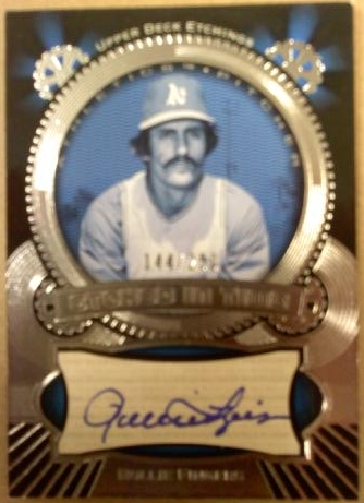 2004 Upper Deck Etchings Etched in Time Autograph Blue #RF Rollie Fingers/250