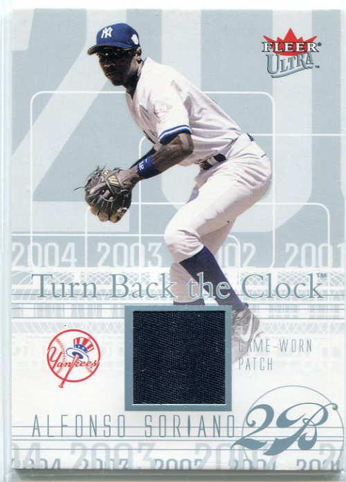 2004 Ultra Turn Back the Clock Patch Platinum #AS Alfonso Soriano Yanks