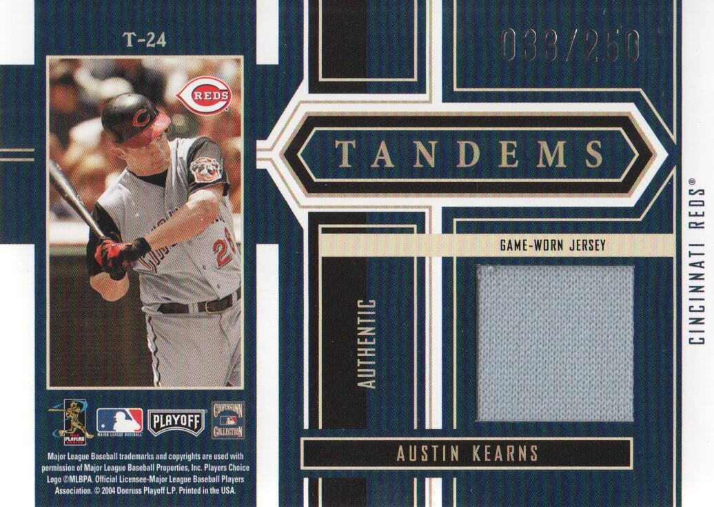 2004 Playoff Honors Tandem Material #24 Dave Parker Jsy/Austin Kearns Jsy/250 back image