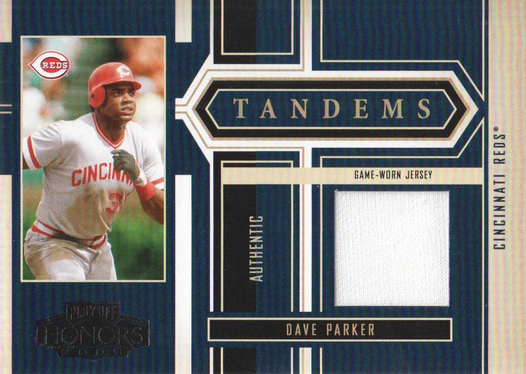 2004 Playoff Honors Tandem Material #24 Dave Parker Jsy/Austin Kearns Jsy/250