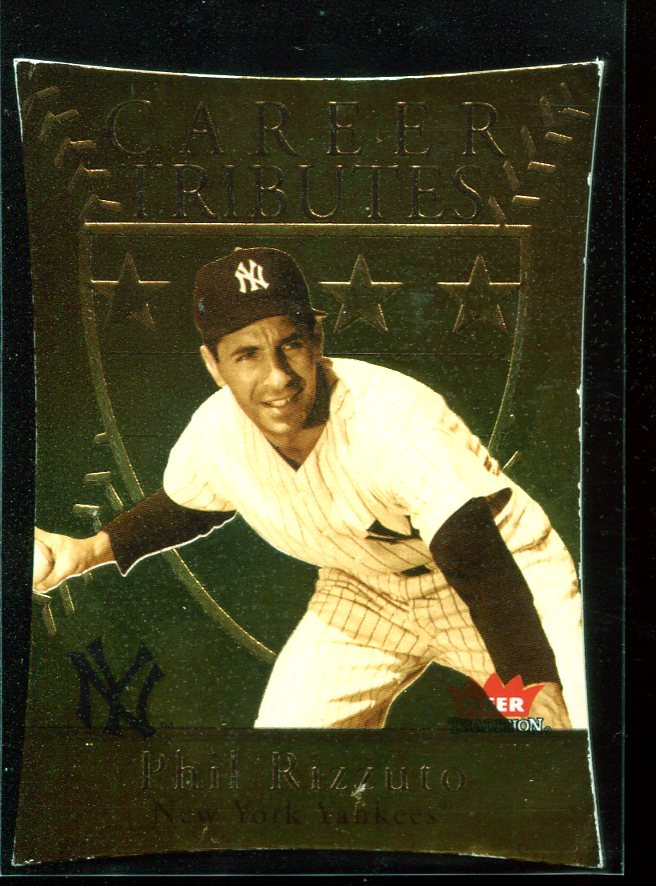 2004 Fleer Tradition Career Tributes Die Cut #7 Phil Rizzuto/56