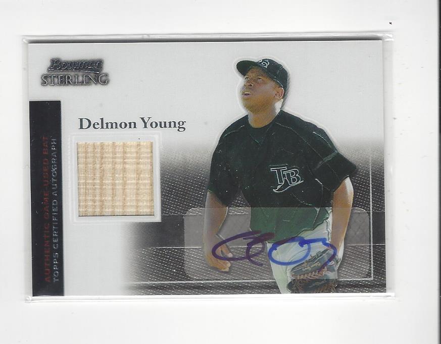 2004 Bowman Sterling #DY Delmon Young AU Bat